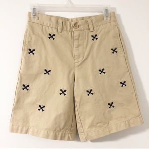 Vineyard Vines Boys Fish Cross Bone Khaki Shorts